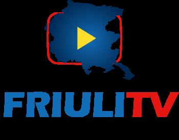 logo friulitv con scritta verticale