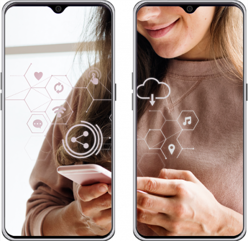 smartphone per presentazione azienda